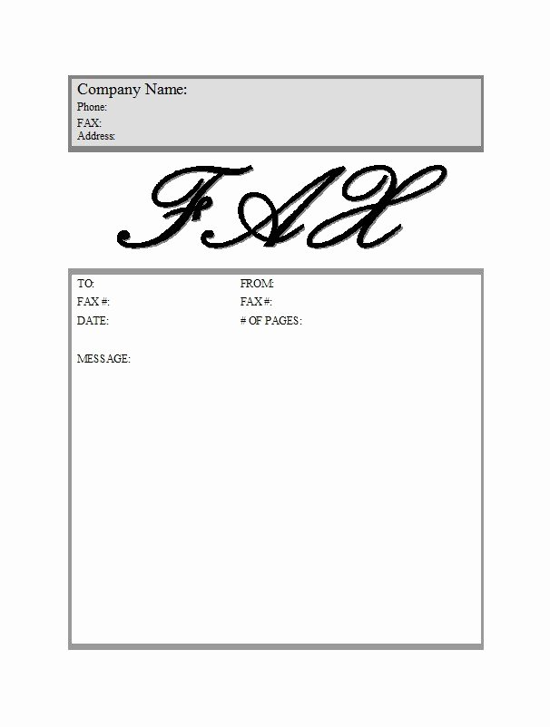 Free Fax Cover Page Template Best Of 40 Printable Fax Cover Sheet Templates Template Lab