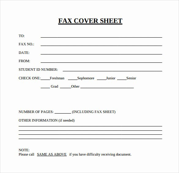 Free Fax Cover Page Template Fresh Blank Fax Cover Sheet 15 Download Free Documents In Pdf