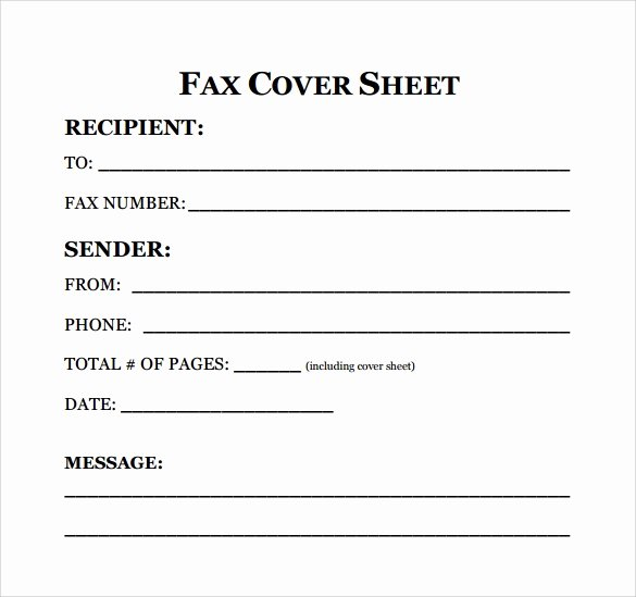 Free Fax Cover Page Template Inspirational 8 Sample Fax Cover Sheet for Resumes