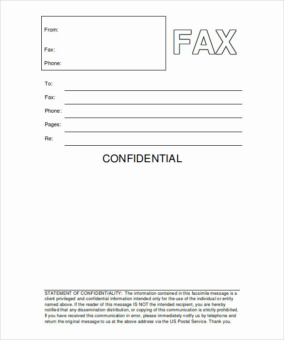 Free Fax Cover Page Template Lovely 12 Free Fax Cover Sheet Templates – Free Sample Example