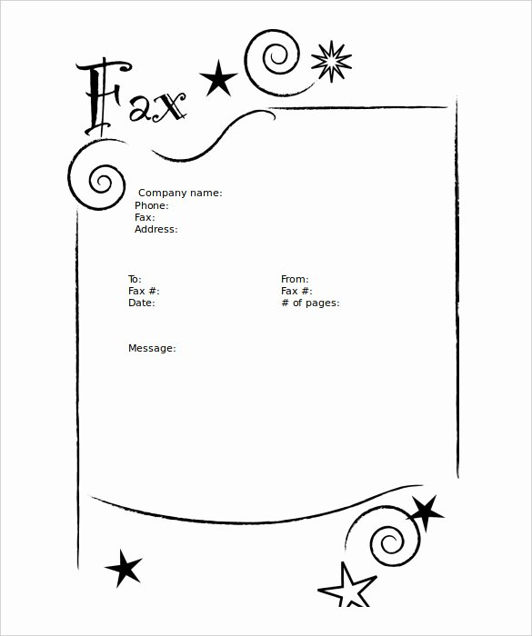 Free Fax Cover Page Template Lovely 9 Blank Fax Cover Sheet Templates Free Sample Example