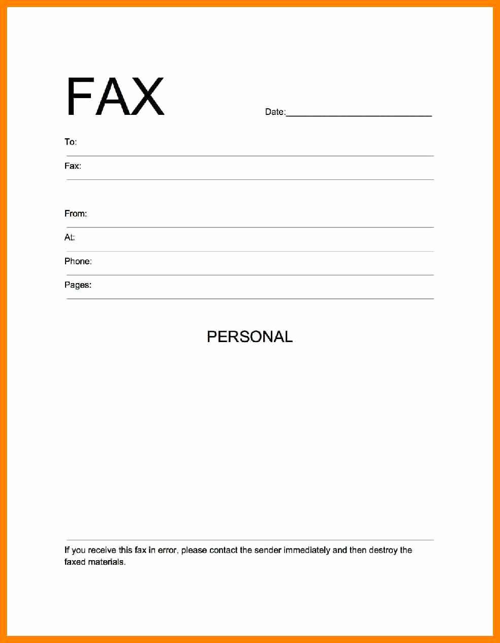 Free Fax Cover Page Template Lovely 9 Free Printable Fax Cover Sheet Template