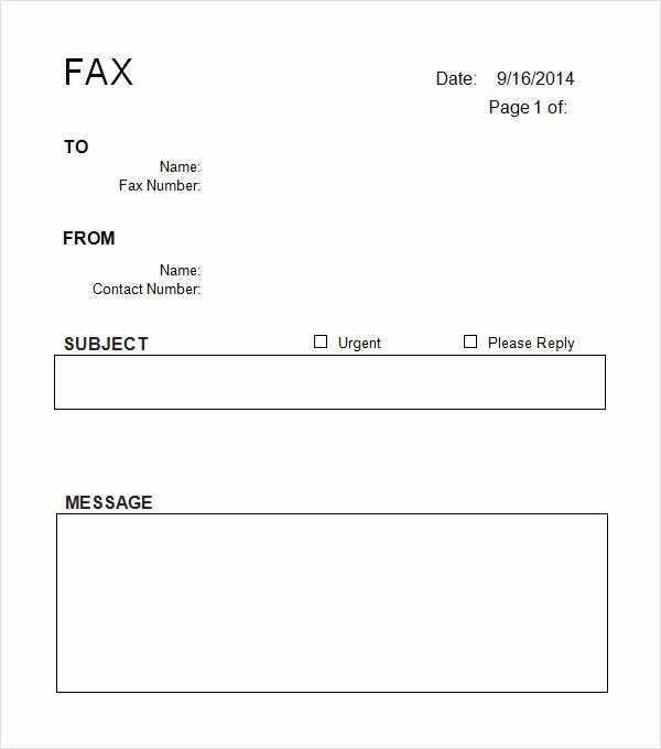Free Fax Cover Page Template Luxury 10 Cover Sheet Templates