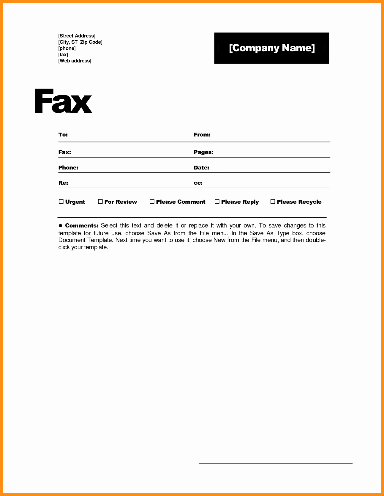 Free Fax Cover Page Template Luxury 6 Free Fax Cover Sheet Template Word