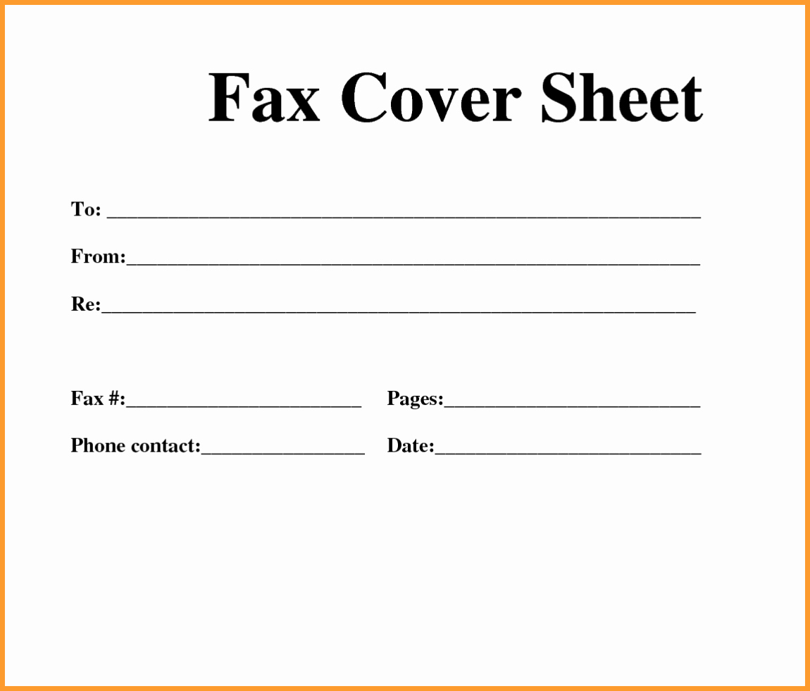 Free Fax Cover Page Template Luxury [free] Fax Cover Sheet Template