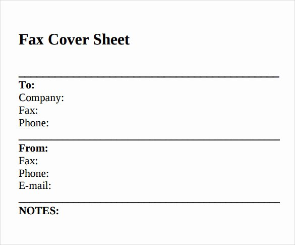 Free Fax Cover Page Template New Sample Standard Fax Cover Sheet – 11 Documents In Word Pdf