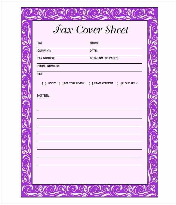 Free Fax Cover Page Template Unique 11 Fax Cover Sheet Doc Pdf