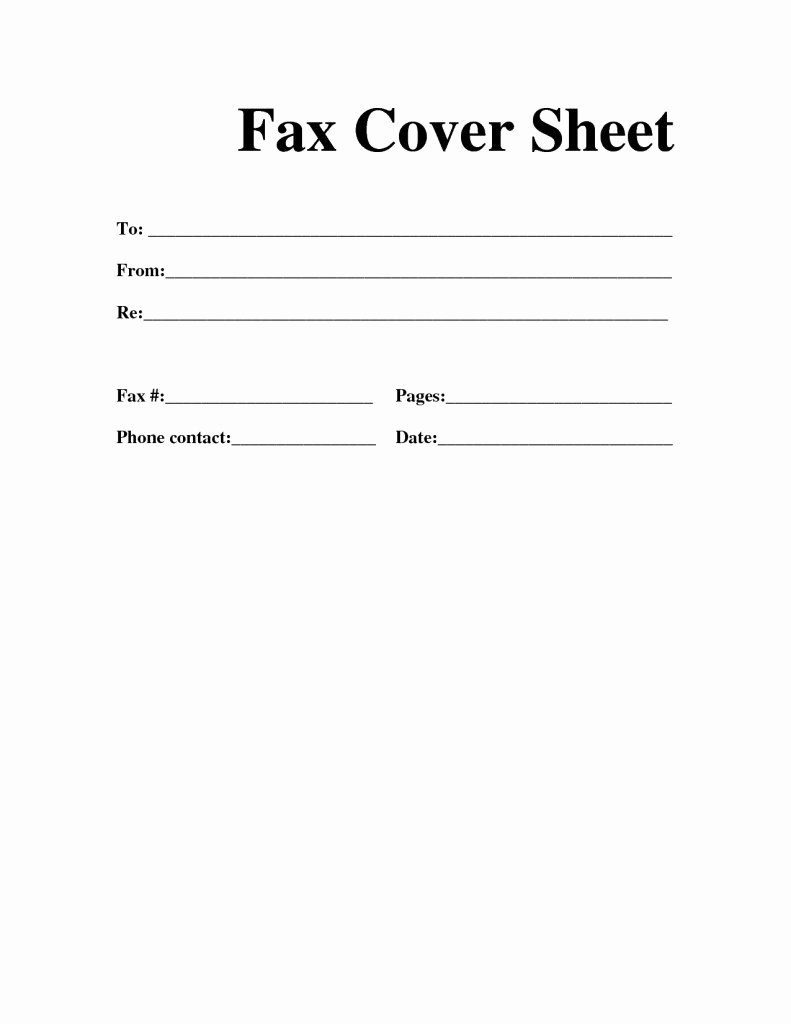 Free Fax Cover Page Template Unique Free Fax Cover Sheet Template Download