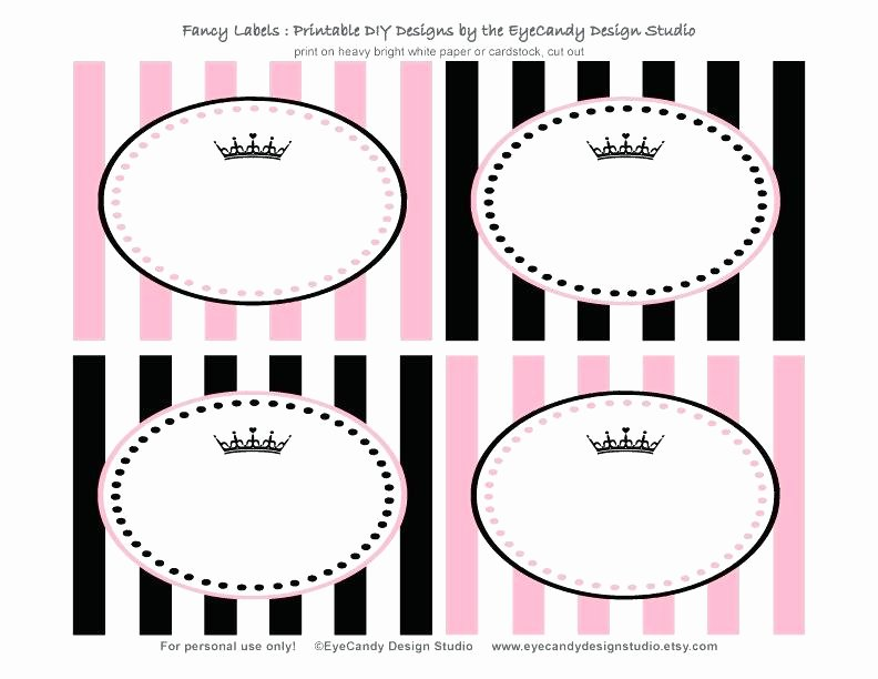 Free Food Label Template Beautiful Glitter Lambs Pink Zebra Food Label Cards and Free