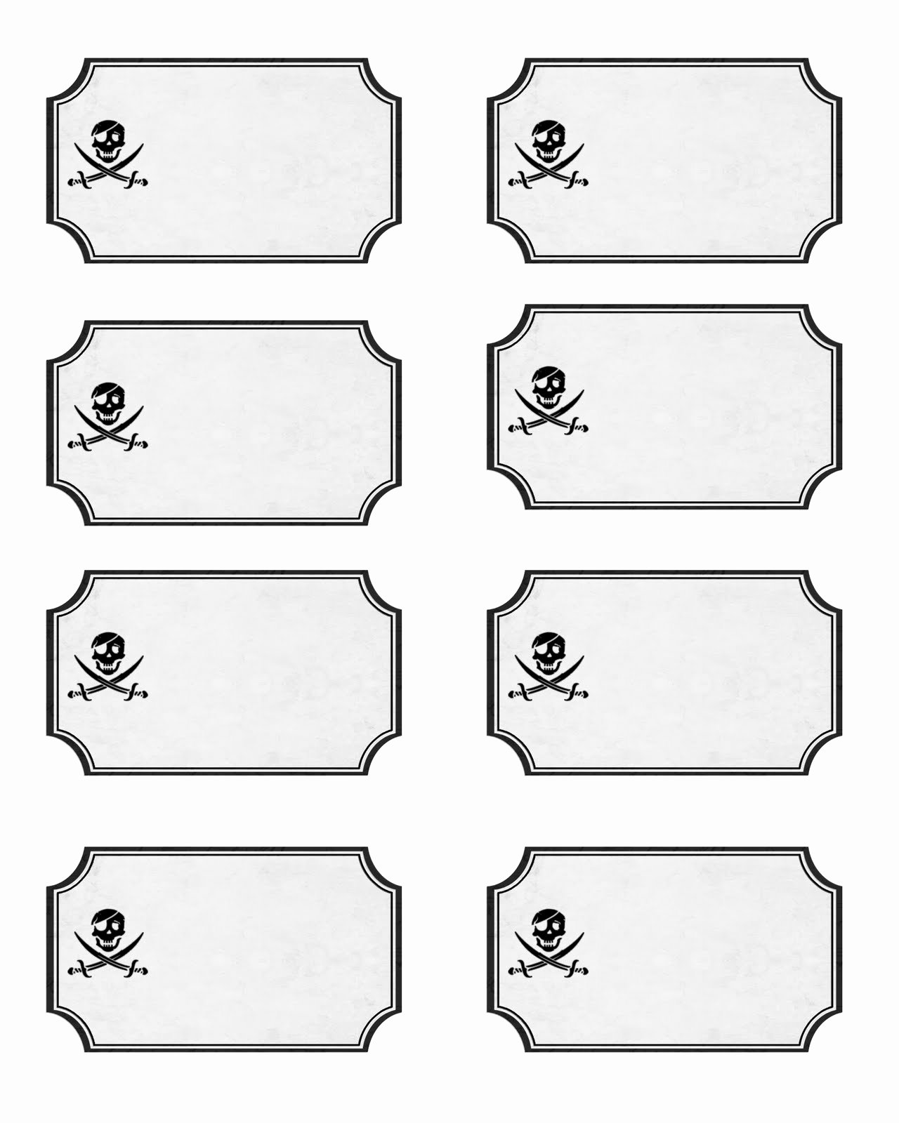 Free Food Label Template Beautiful Pirate Party with Free Printables