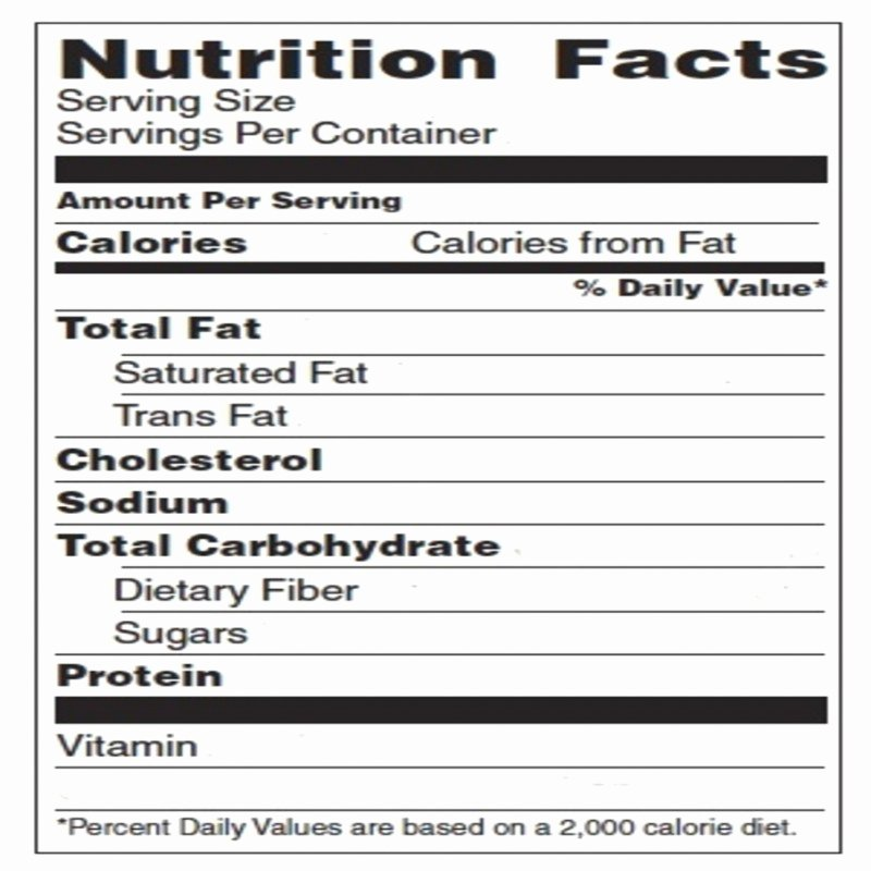 Free Food Label Template Best Of Blank Nutrition Label Template Word