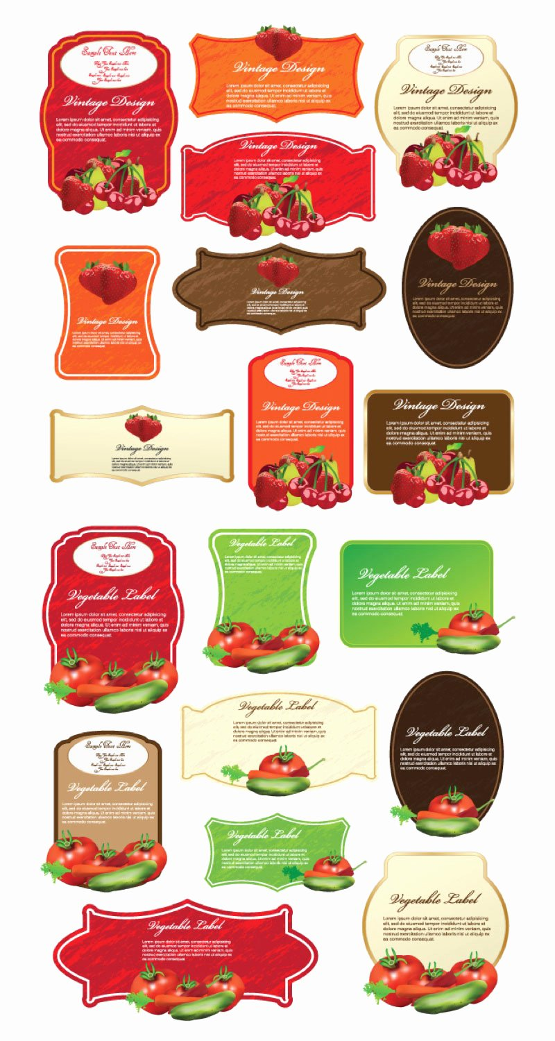 Free Food Label Template Fresh Free Vector Label File Page 1 Newdesignfile