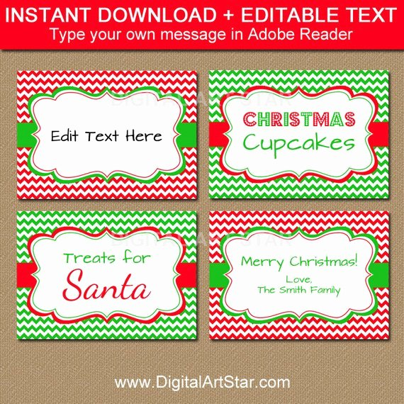 Free Food Label Template Fresh Holiday Party Food Labels Christmas Food Labels Printable