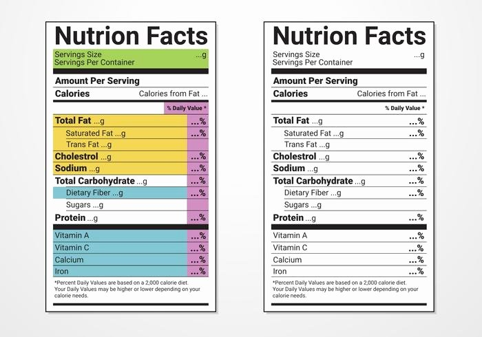 Free Food Label Template Lovely Nutrition Facts Label Vector Templates Download Free