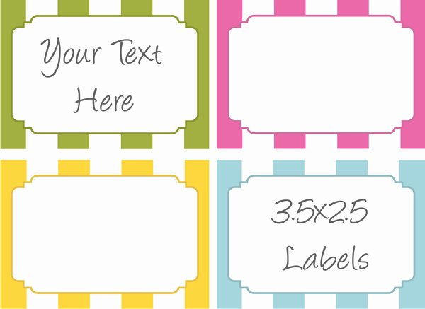 Free Food Label Template New 6 Best Of Printable Food Labels Template Free