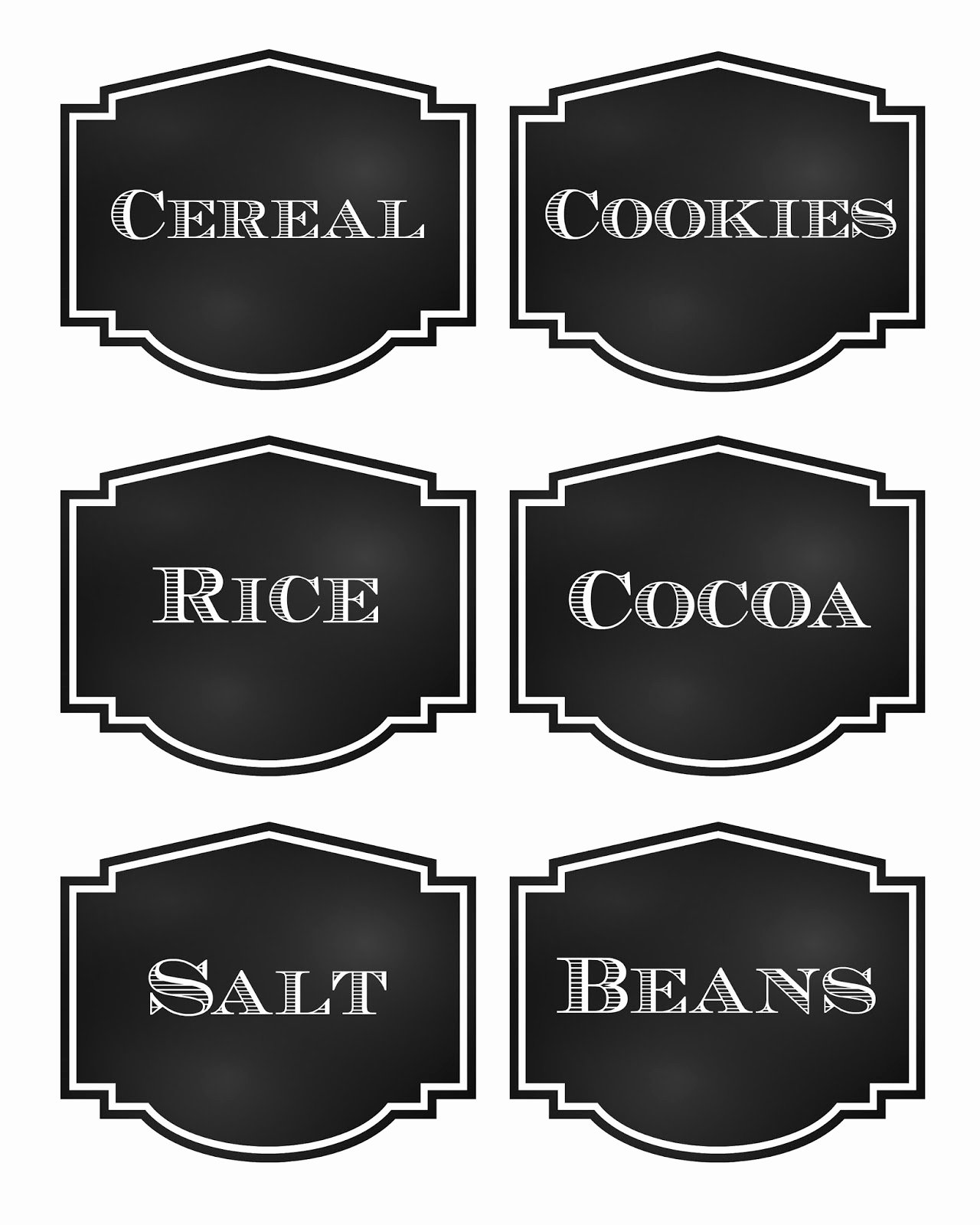 Free Food Label Template Unique Reorganized Simplicity Free Printable Chalkboard Style