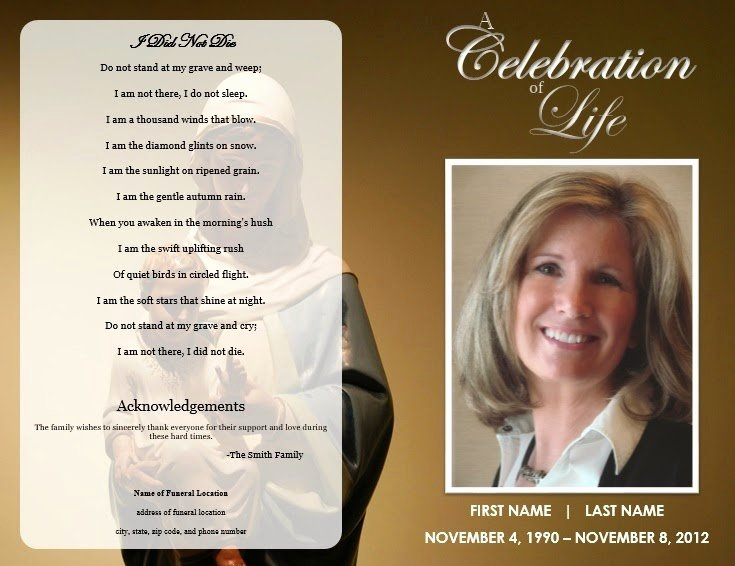 Free Funeral Brochure Template Beautiful the Funeral Memorial Program Blog Free Funeral Program