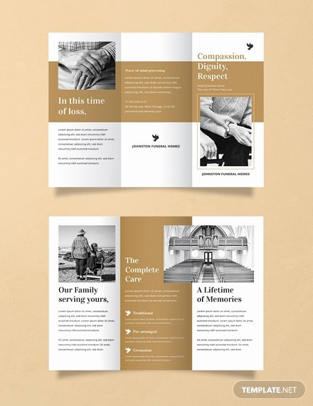Free Funeral Brochure Template Best Of Free A5 Brochure Template Download 267 Brochures In Psd