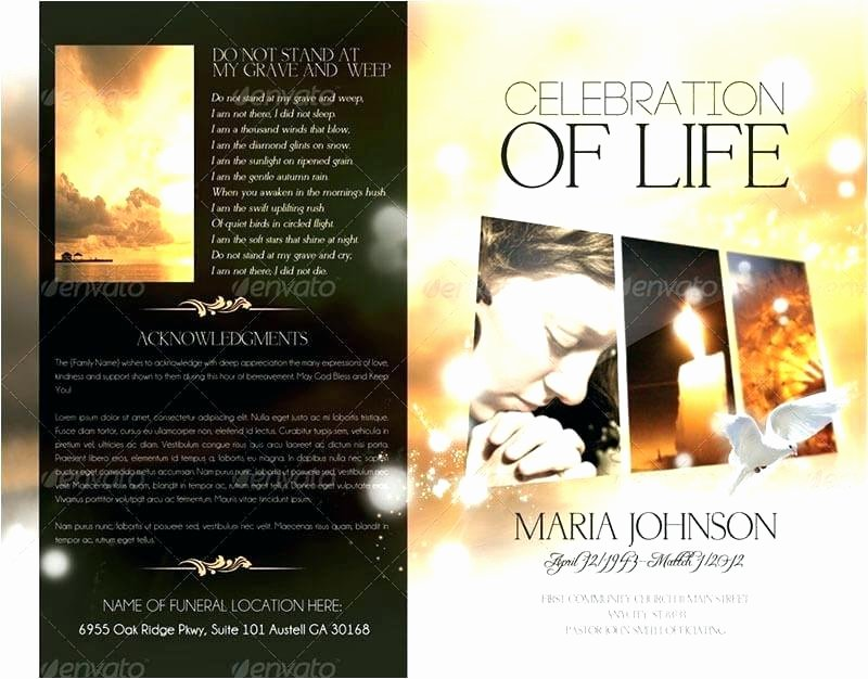 Free Funeral Brochure Template Best Of Sample Funeral Program Template Download Free Memorial