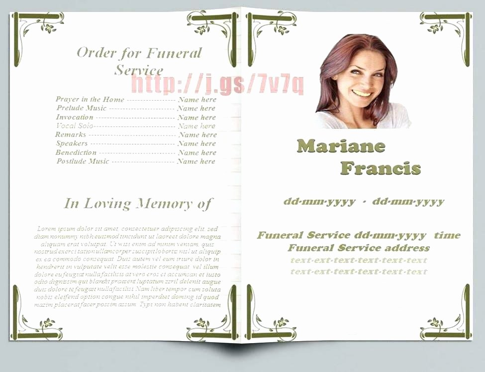 Free Funeral Brochure Template Elegant Free Christian Funeral Service Program Template In Word