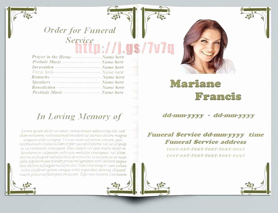 Free Funeral Brochure Template Elegant Free Christian Funeral Service Program Template In Word