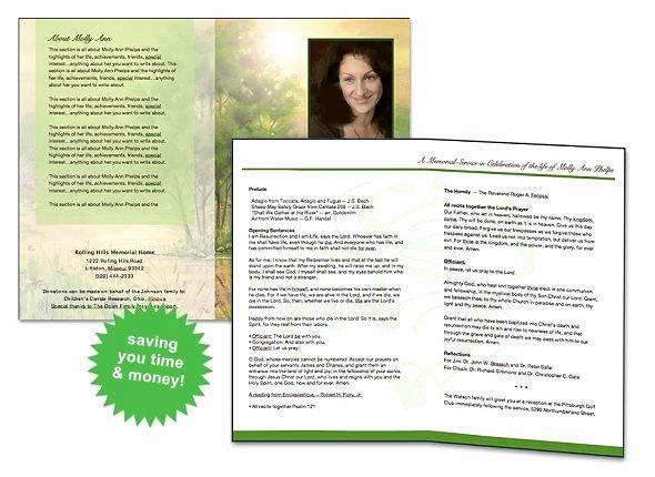 Free Funeral Brochure Template Elegant Free Funeral Program Template
