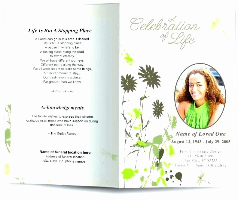 Free Funeral Brochure Template Inspirational Free Celebration Life Templates Invitation Template