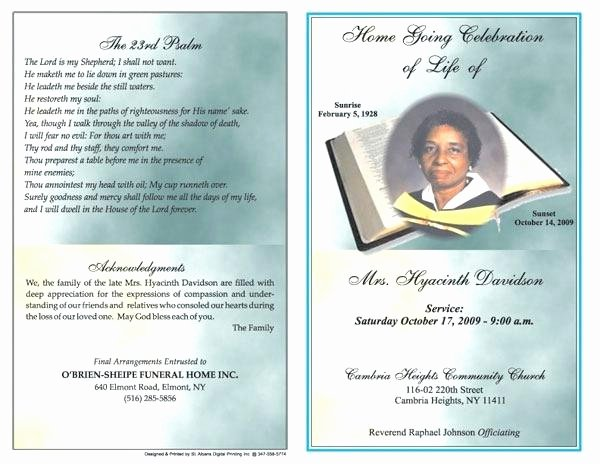Free Funeral Brochure Template Lovely Funeral Brochure Template Word Free Program Templates for