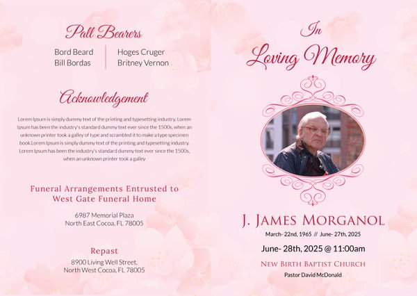 Free Funeral Brochure Template New 5 Funeral Bi Fold Brochure Templates Psd format