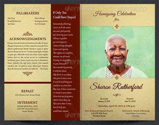 Free Funeral Brochure Template Unique 33 Sample Funeral Programs Templates