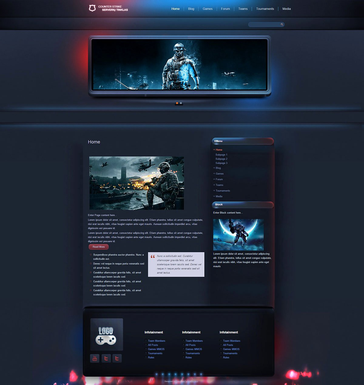 Free Gaming Website Template Awesome Esport Gaming Wordpress theme