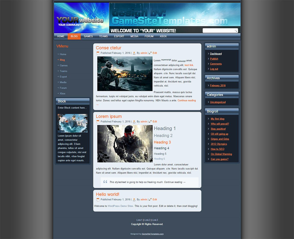 Free Gaming Website Template Beautiful Free Drupal Template
