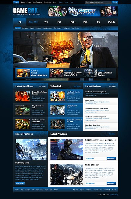 Free Gaming Website Template Beautiful Thrilling Game Website Templates