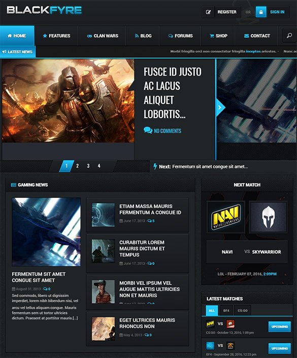 Free Gaming Website Template Best Of 21 PHP Gaming Website themes & Templates