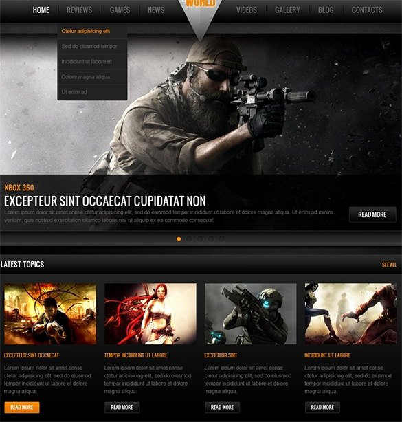 Free Gaming Website Template Best Of 46 Gaming Website themes & Templates