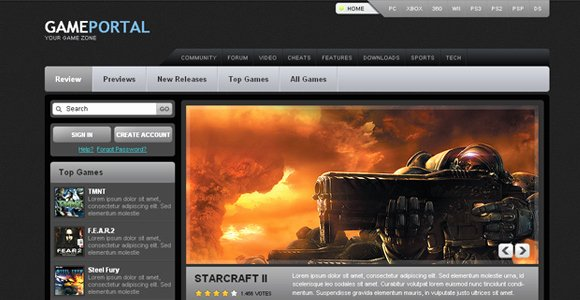 Free Gaming Website Template Best Of Gamer Heart Free Game Portal Template