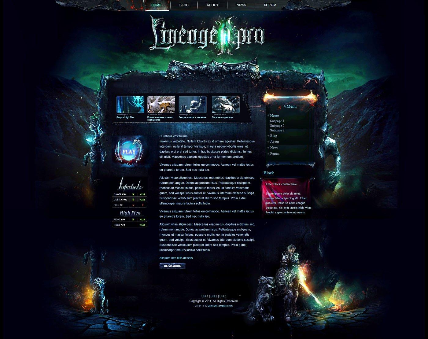 Free Gaming Website Template Best Of Mystic Wordpress theme