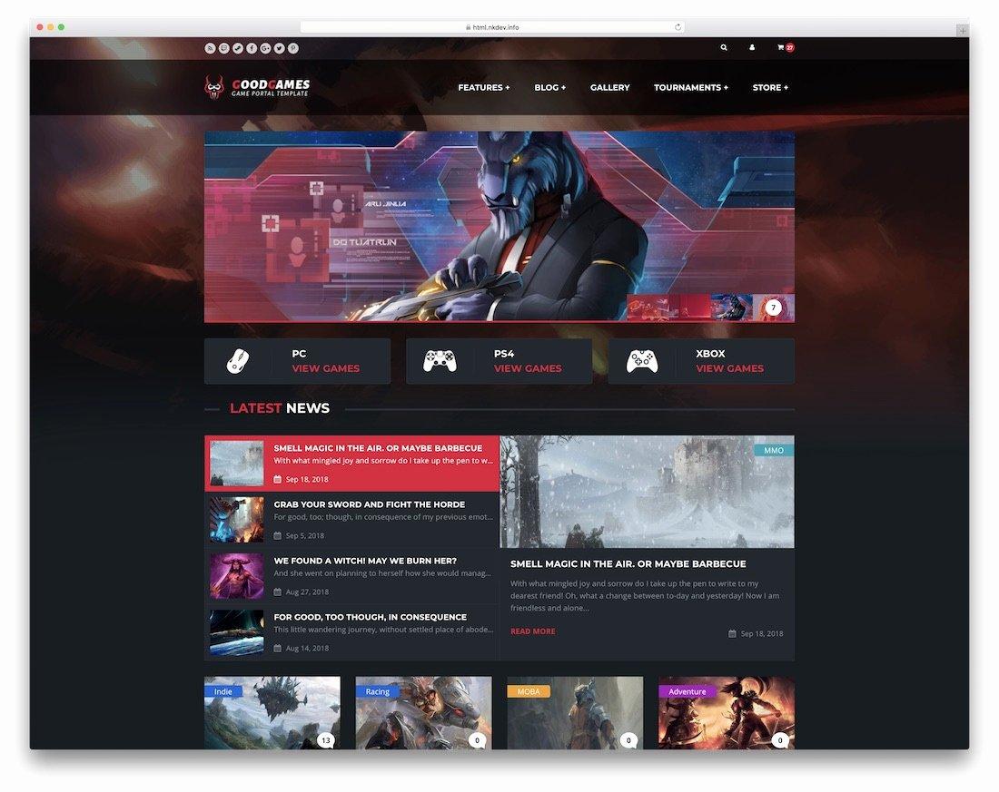 Free Gaming Website Template Elegant 22 Best Gaming HTML Website Templates 2018 Colorlib