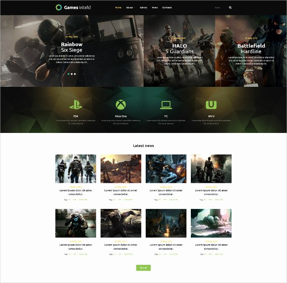 Free Gaming Website Template Elegant 46 Gaming Website themes & Templates