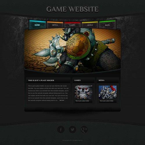 Free Gaming Website Template Elegant Game Website Template with original Illustrations