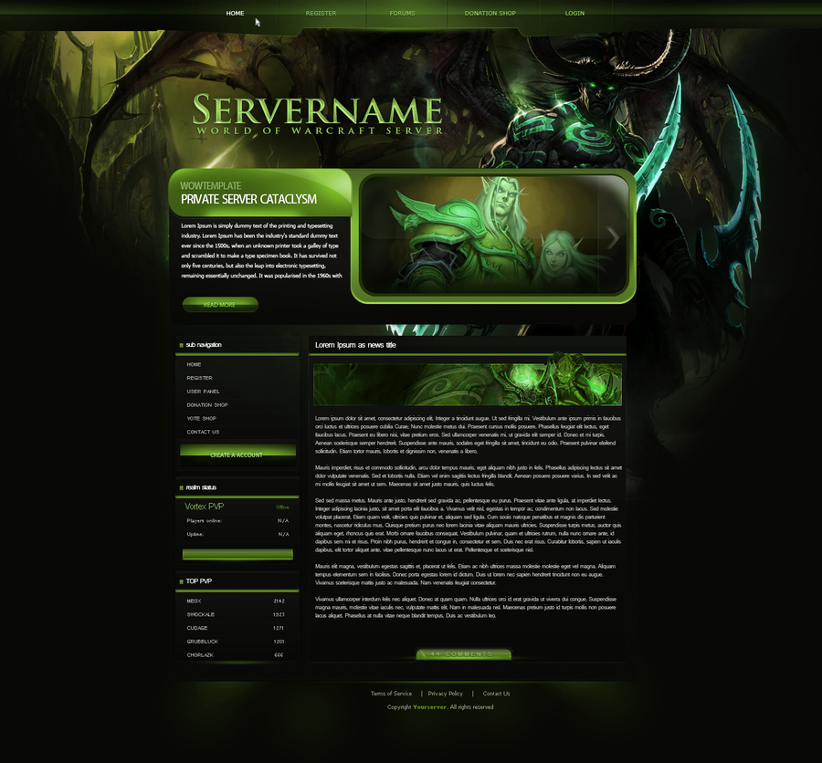 Free Gaming Website Template Fresh [rate&cc] Glossy Gaming Website