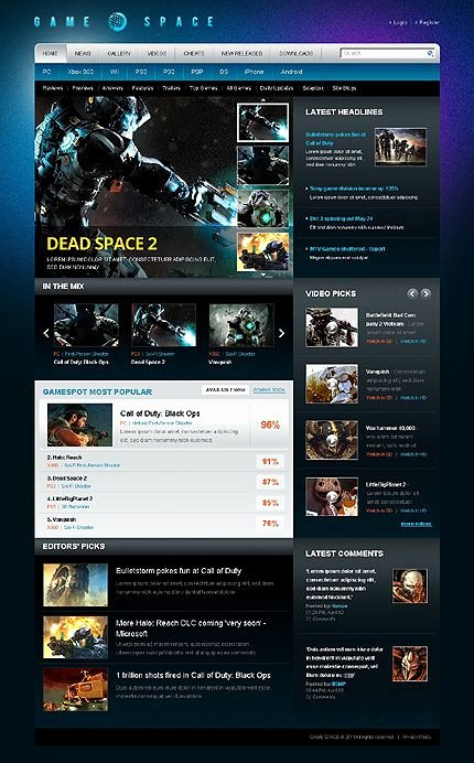 Free Gaming Website Template Inspirational 100 Gaming Website Templates Gaming Website