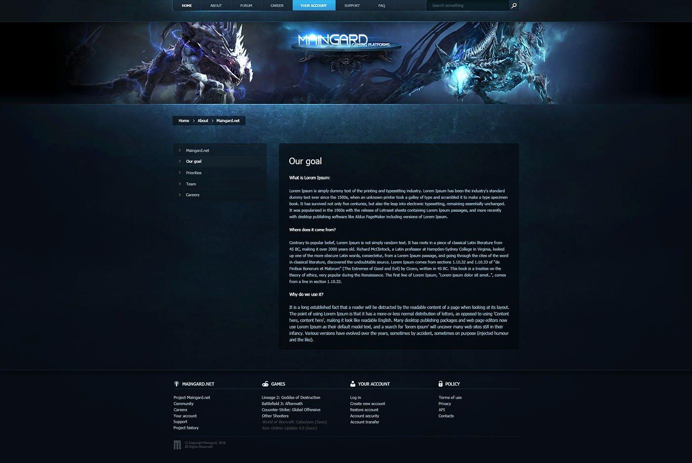 Free Gaming Website Template Inspirational Guard Game Platform Web Template