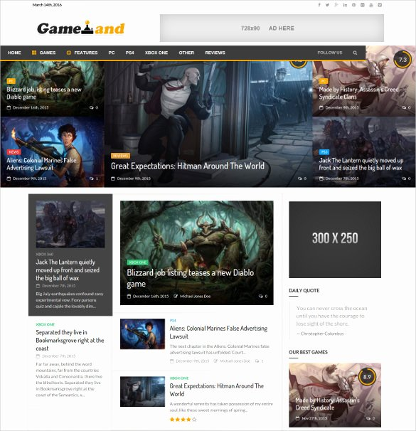 Free Gaming Website Template Lovely 46 Gaming Website themes & Templates