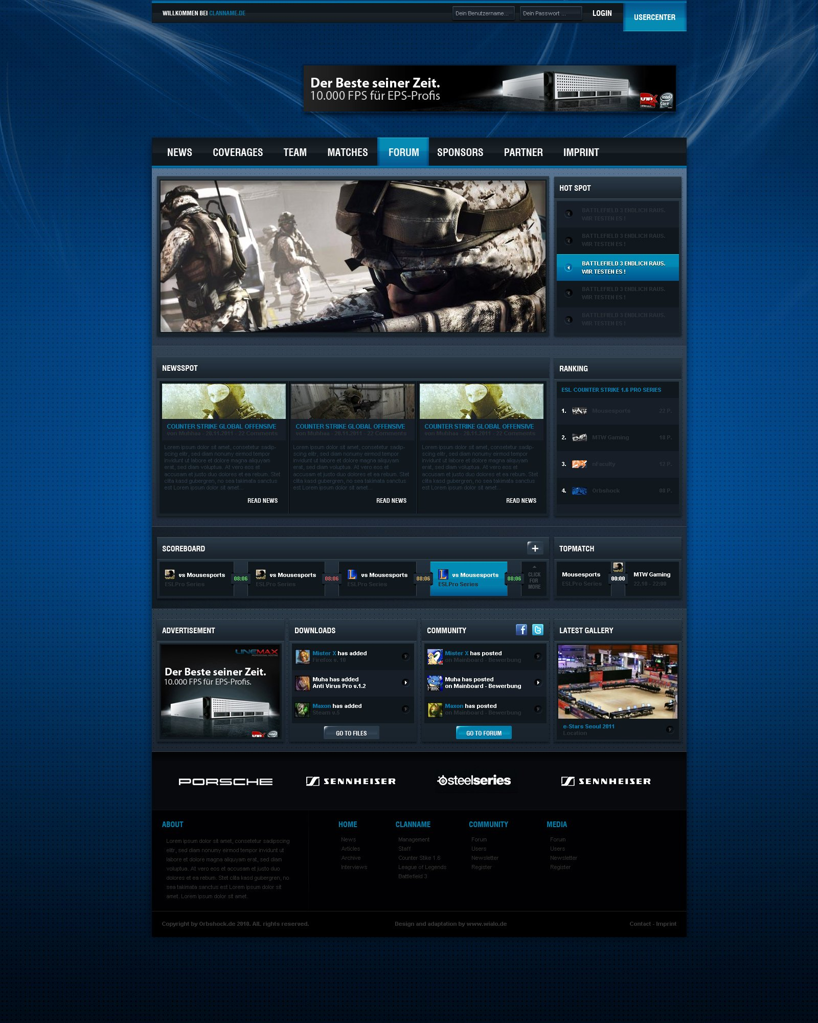 Free Gaming Website Template Lovely Gaming Template by sohohomedia On Deviantart
