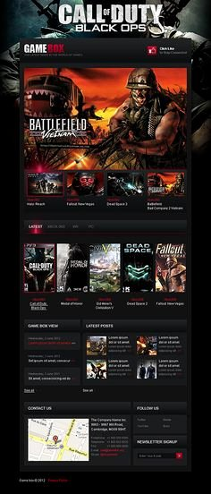Free Gaming Website Template Luxury 1000 Images About Game Website Templates On Pinterest