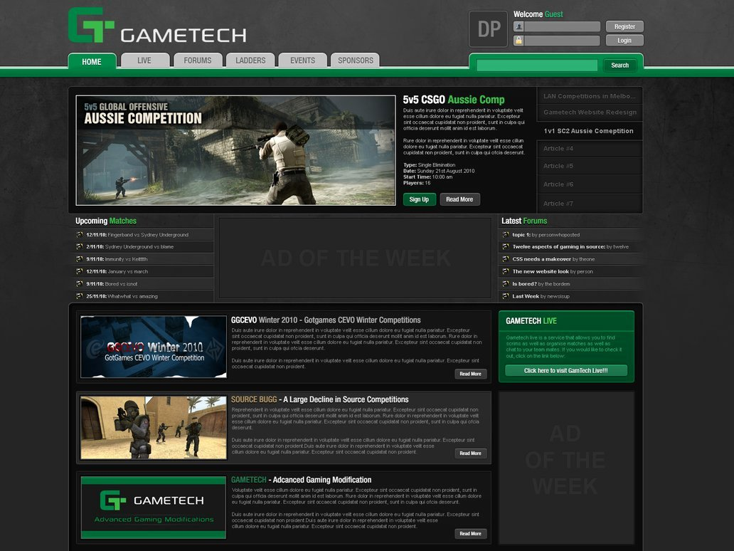 Free Gaming Website Template Luxury Gaming Website Template Design 16 by Columaes On Deviantart