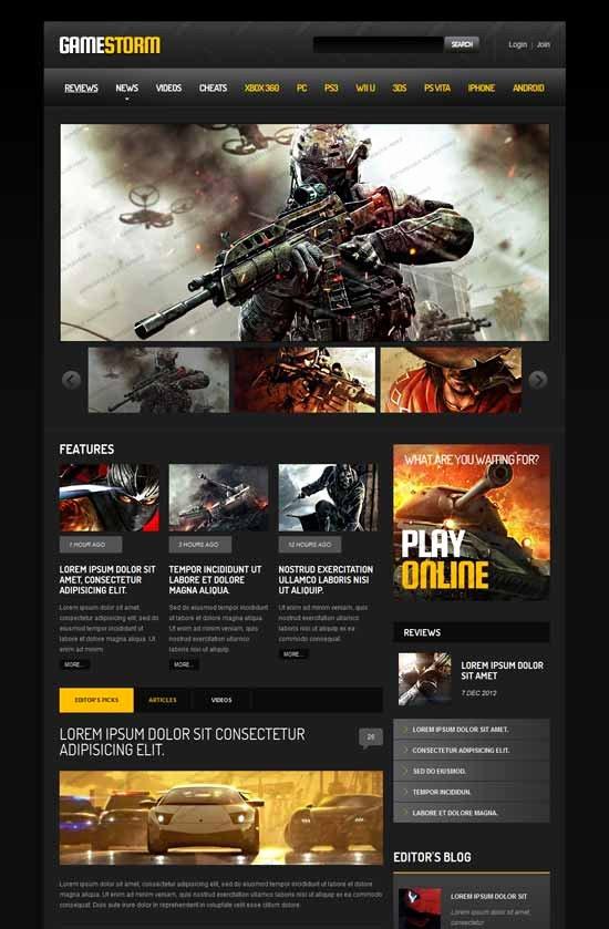 Free Gaming Website Template New 25 Best Gaming Website Templates 2018 Freshdesignweb