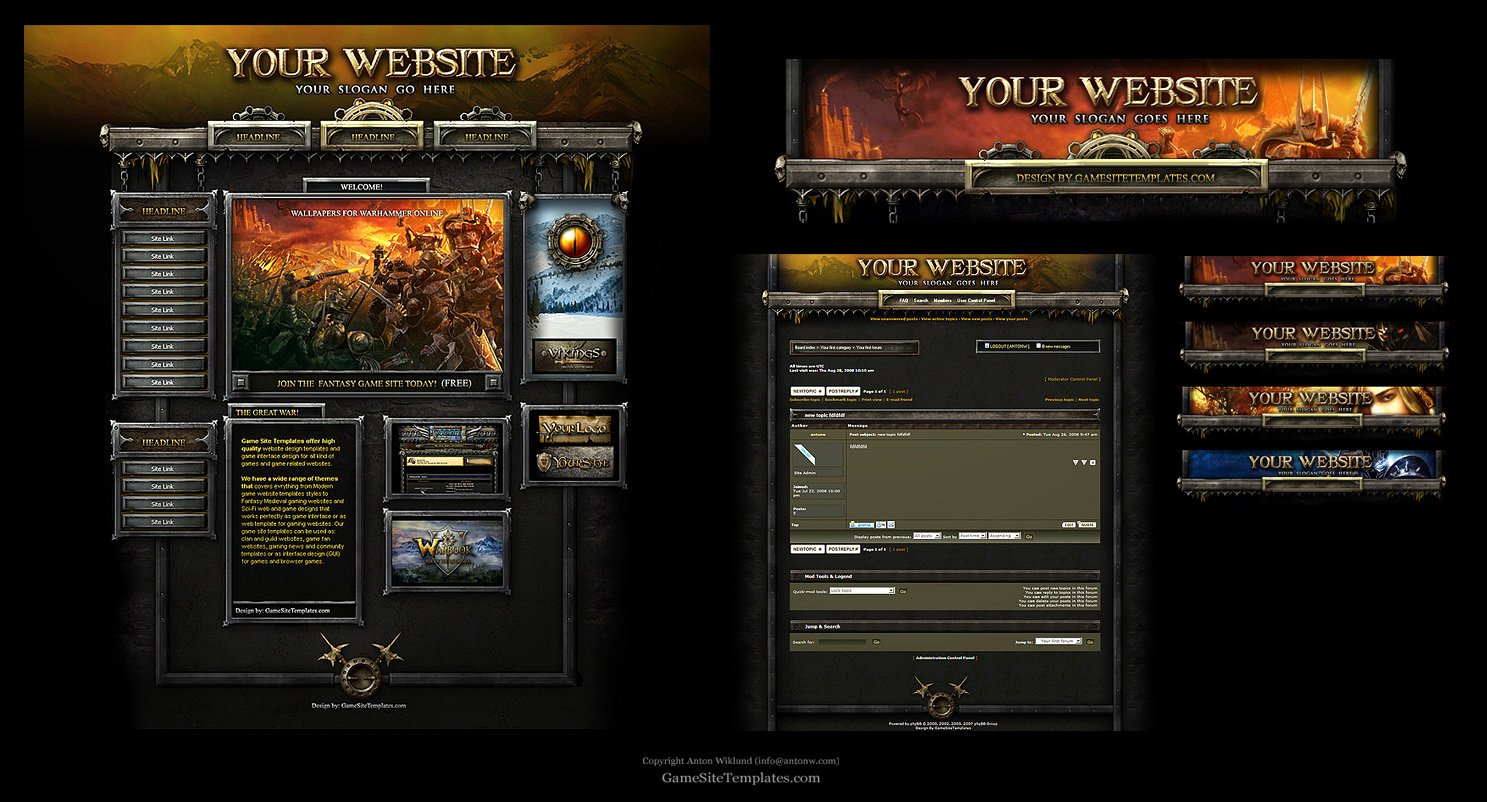 Free Gaming Website Template New Warhammer Line Web Template by Karsten On Deviantart