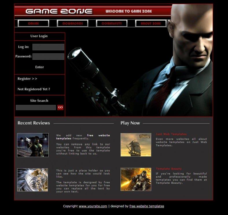 Free Gaming Website Template Unique forum Templates & themes Free & Premium
